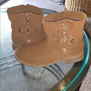 Brown aldo booties